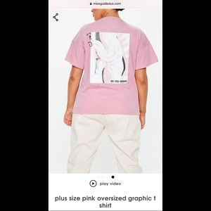 Missguided Pink Oversized Tee